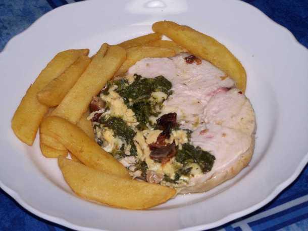 Pollo ripieno con frittata, provola e friarielli 1